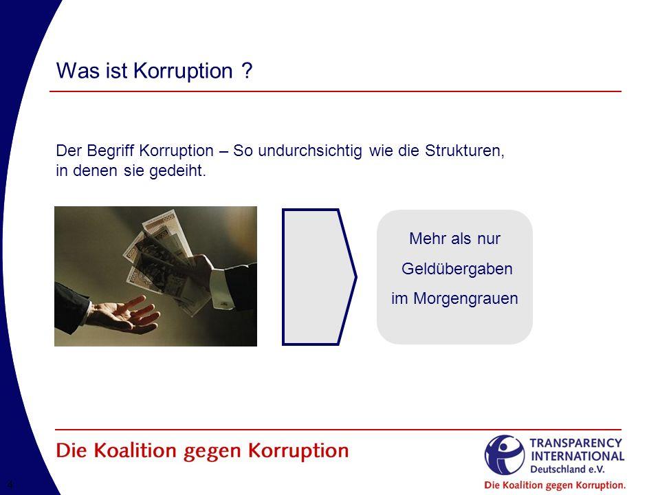 Was ist Korruption Der Begriff Korruption – So undurchsichtig wie die Strukturen, in denen sie gedeiht.