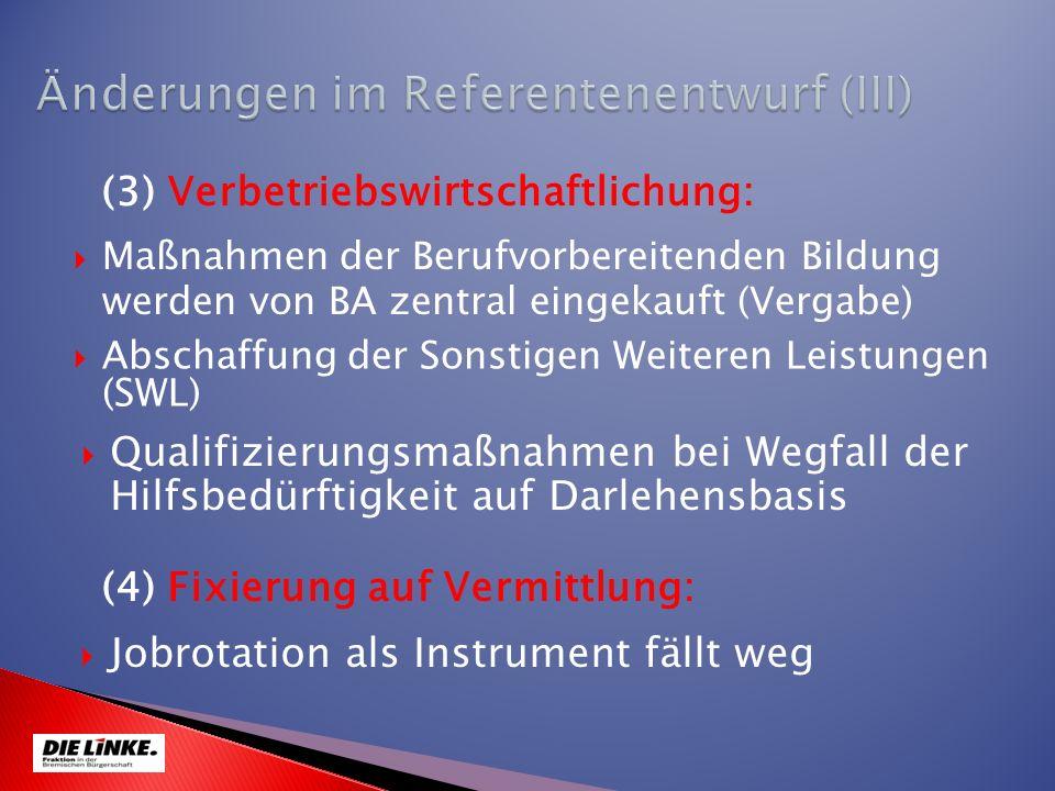 Änderungen im Referentenentwurf (III)