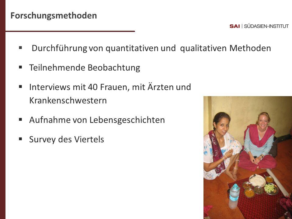 Forschungsmethoden Durchführung von quantitativen und qualitativen Methoden. Teilnehmende Beobachtung.