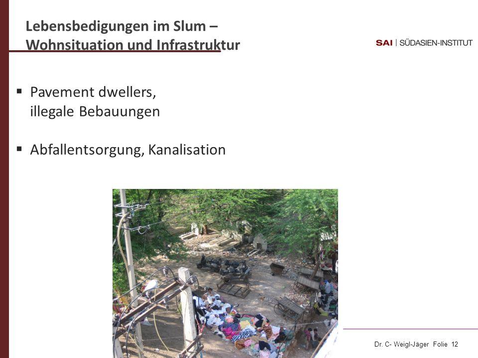Lebensbedigungen im Slum –