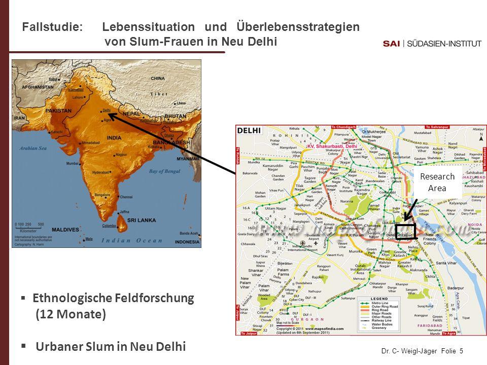 Urbaner Slum in Neu Delhi