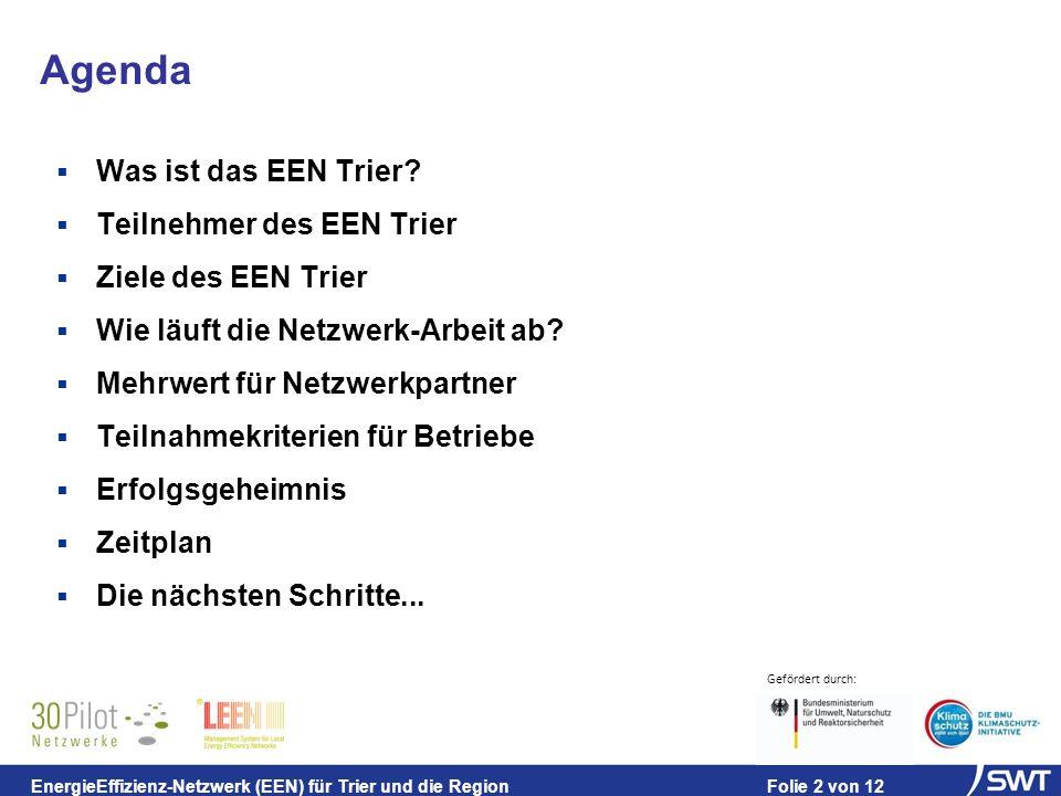 Agenda Was ist das EEN Trier Teilnehmer des EEN Trier