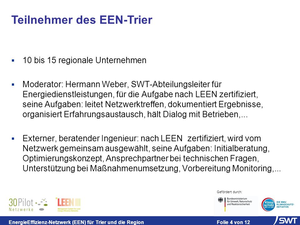 Teilnehmer des EEN-Trier