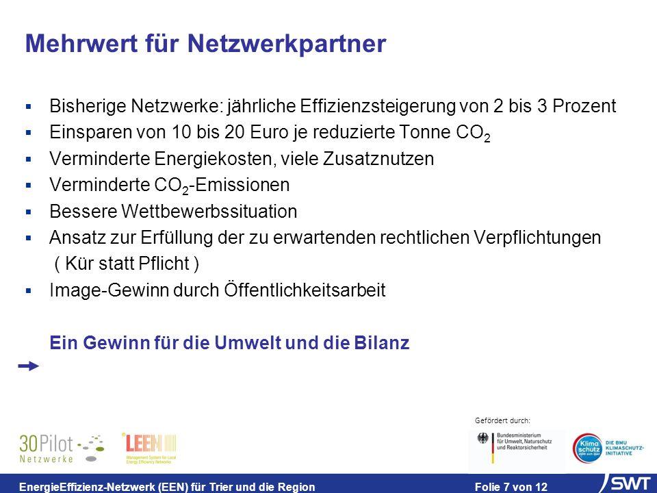 Mehrwert für Netzwerkpartner