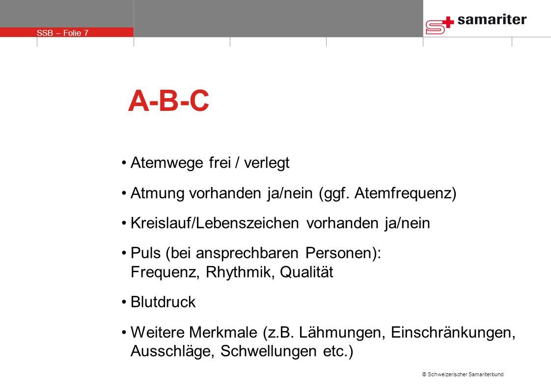 A-B-C Atemwege frei / verlegt