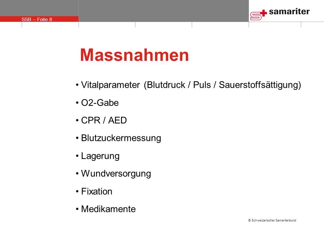 Massnahmen Vitalparameter (Blutdruck / Puls / Sauerstoffsättigung)