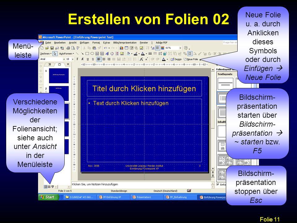 Bildschirm-präsentation stoppen über Esc