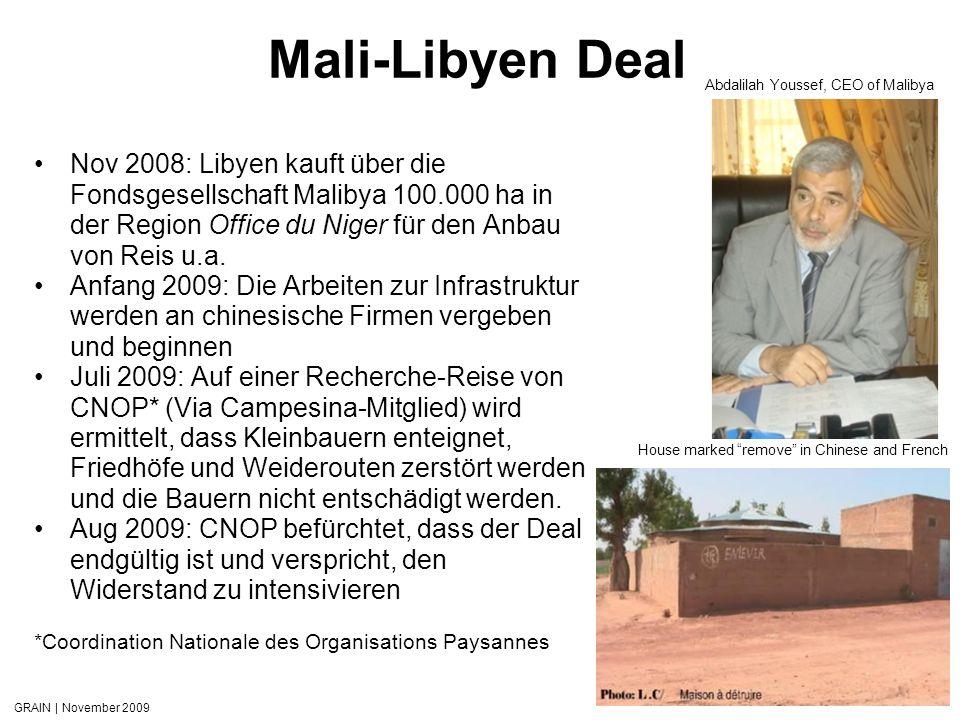 Mali-Libyen Deal Abdalilah Youssef, CEO of Malibya.