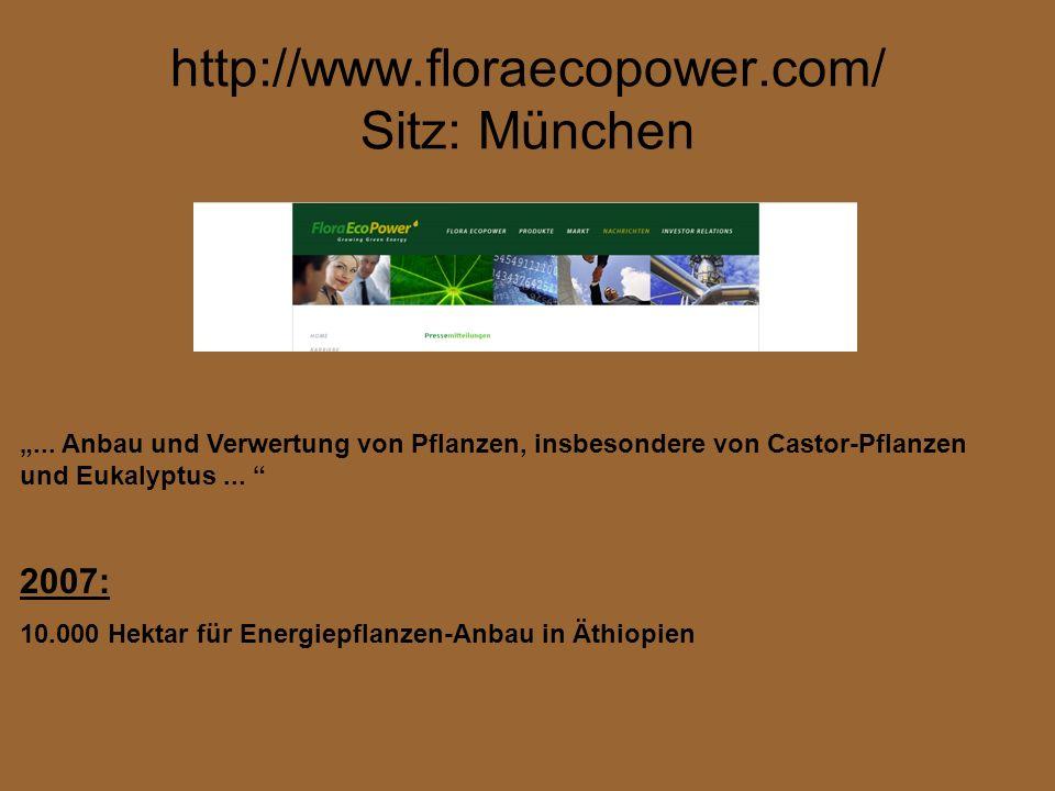 http://www.floraecopower.com/ Sitz: München