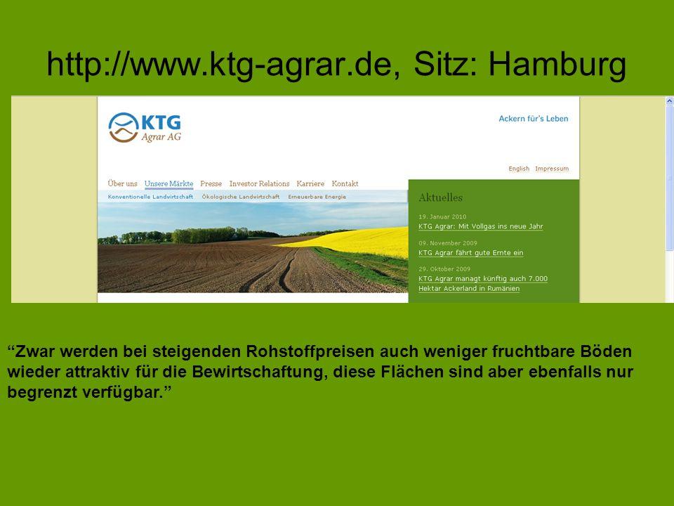http://www.ktg-agrar.de, Sitz: Hamburg