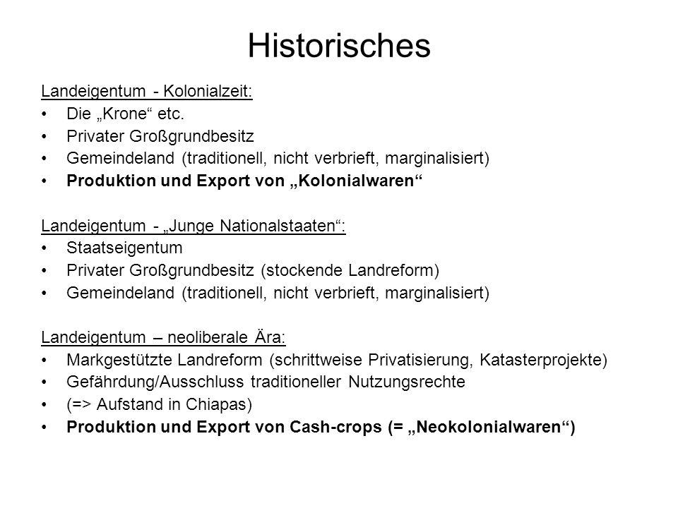 """Historisches Landeigentum - Kolonialzeit: Die """"Krone etc."""