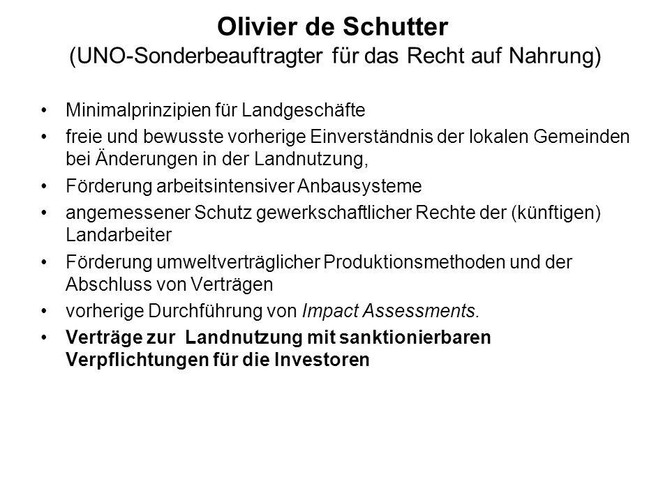 Olivier de Schutter (UNO-Sonderbeauftragter für das Recht auf Nahrung)