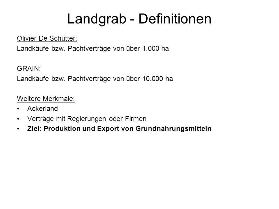 Landgrab - Definitionen