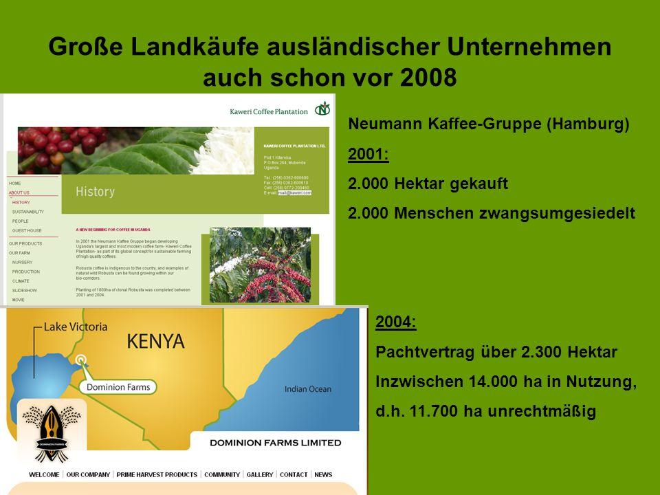 Große Landkäufe ausländischer Unternehmen auch schon vor 2008