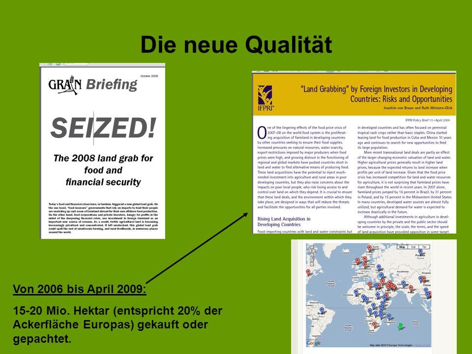 Die neue Qualität Von 2006 bis April 2009:
