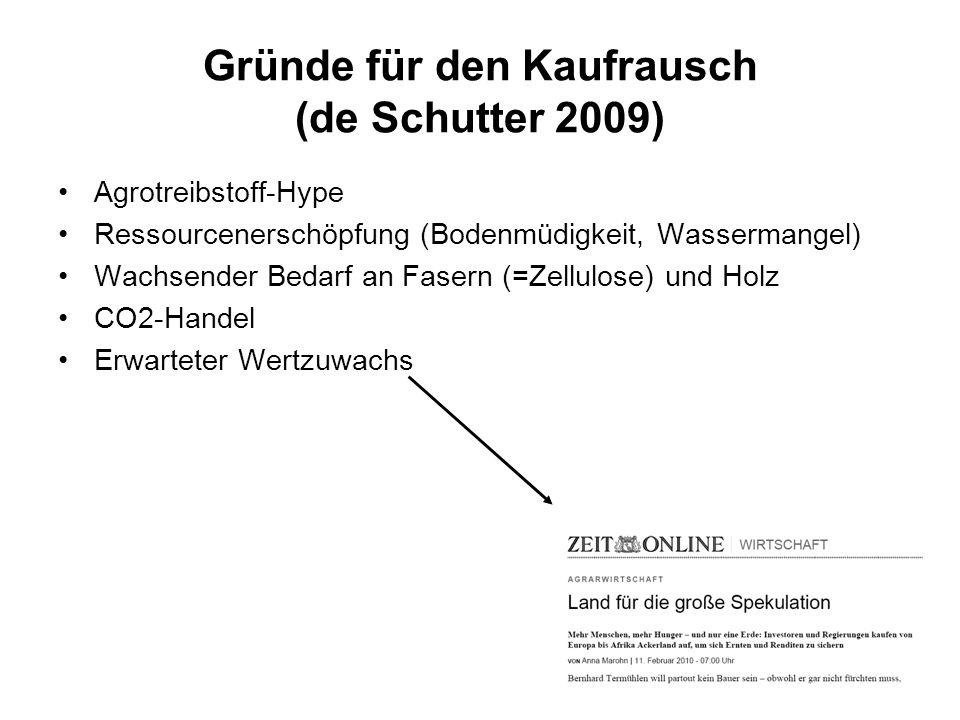 Gründe für den Kaufrausch (de Schutter 2009)