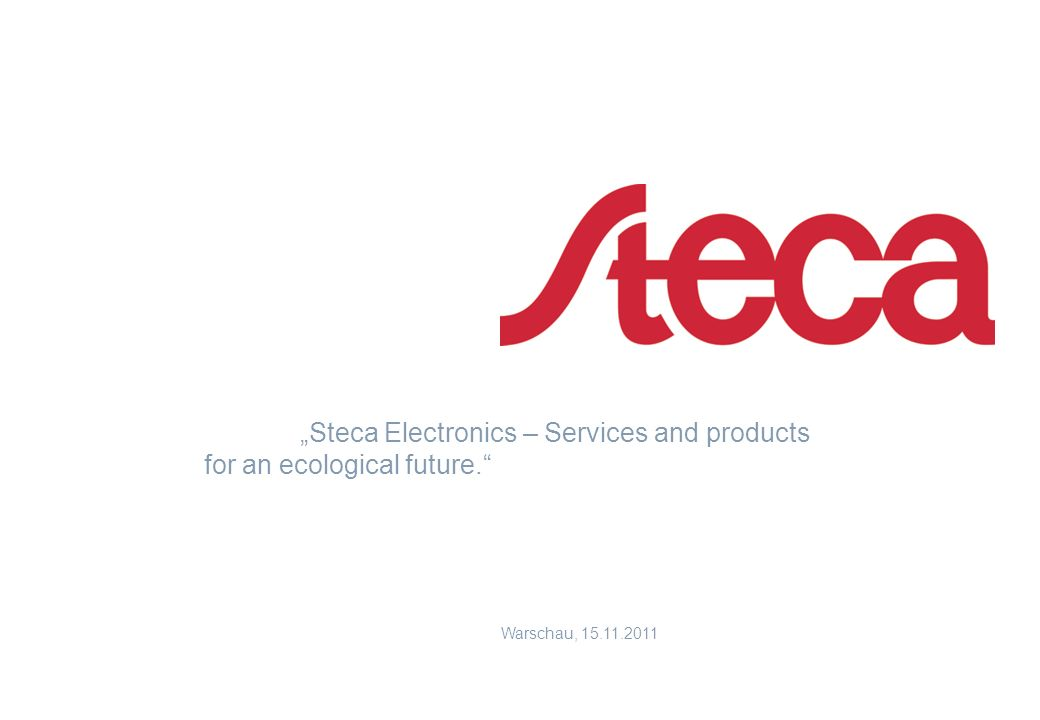 """Steca Electronics – Services and products for an ecological future."