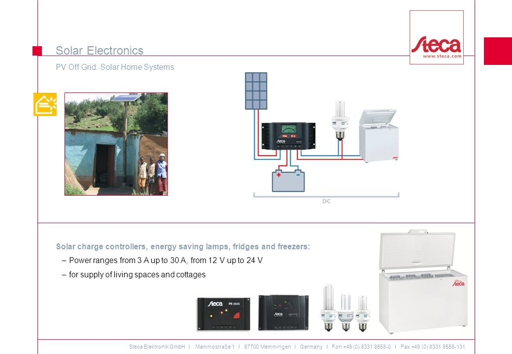 Solar Electronics PV Off Grid: Solar Home Systems