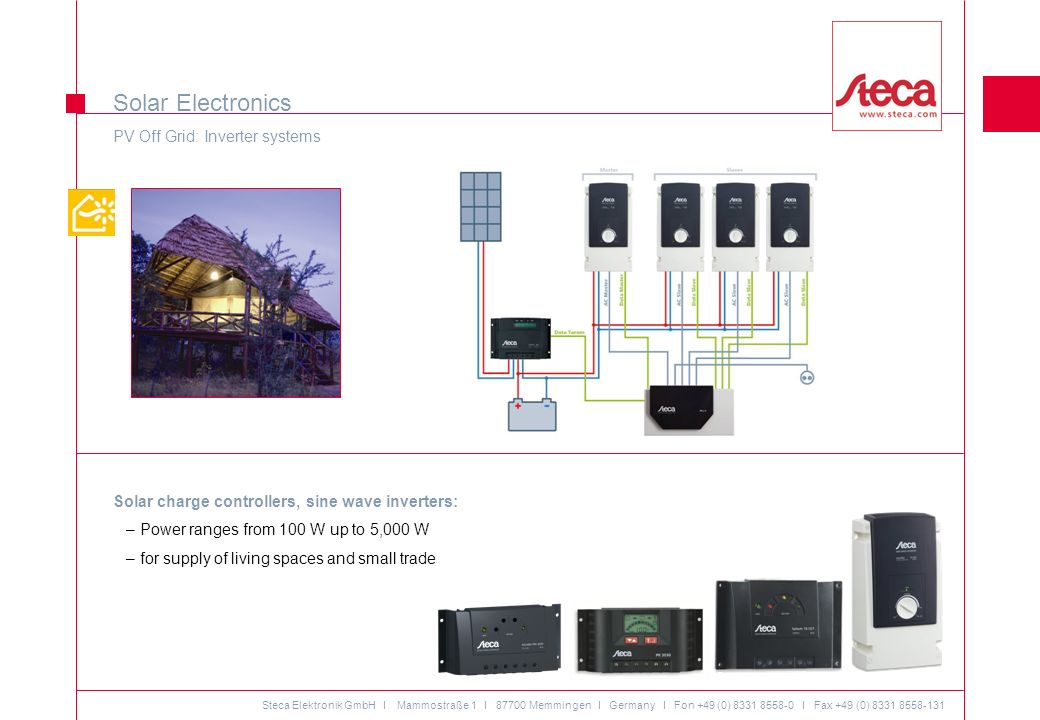Solar Electronics PV Off Grid: Inverter systems