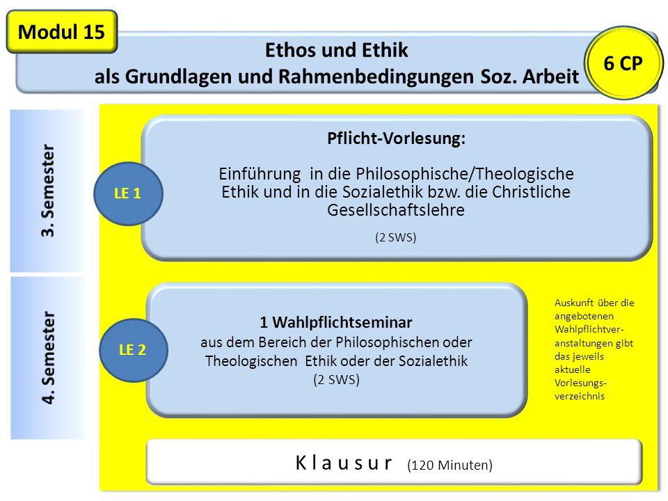 Ethos und Ethik als Grundlagen und Rahmenbedingungen Soz. Arbeit