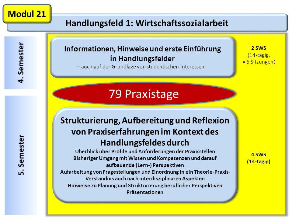 79 Praxistage Modul 21 Handlungsfeld 1: Wirtschaftssozialarbeit