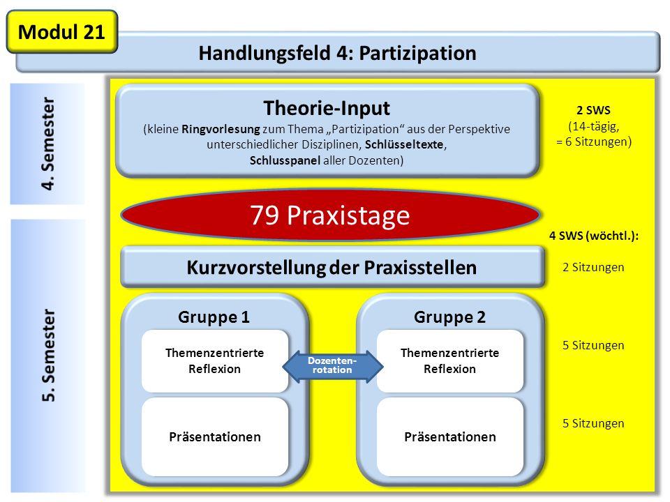 79 Praxistage Modul 21 Handlungsfeld 4: Partizipation Theorie-Input