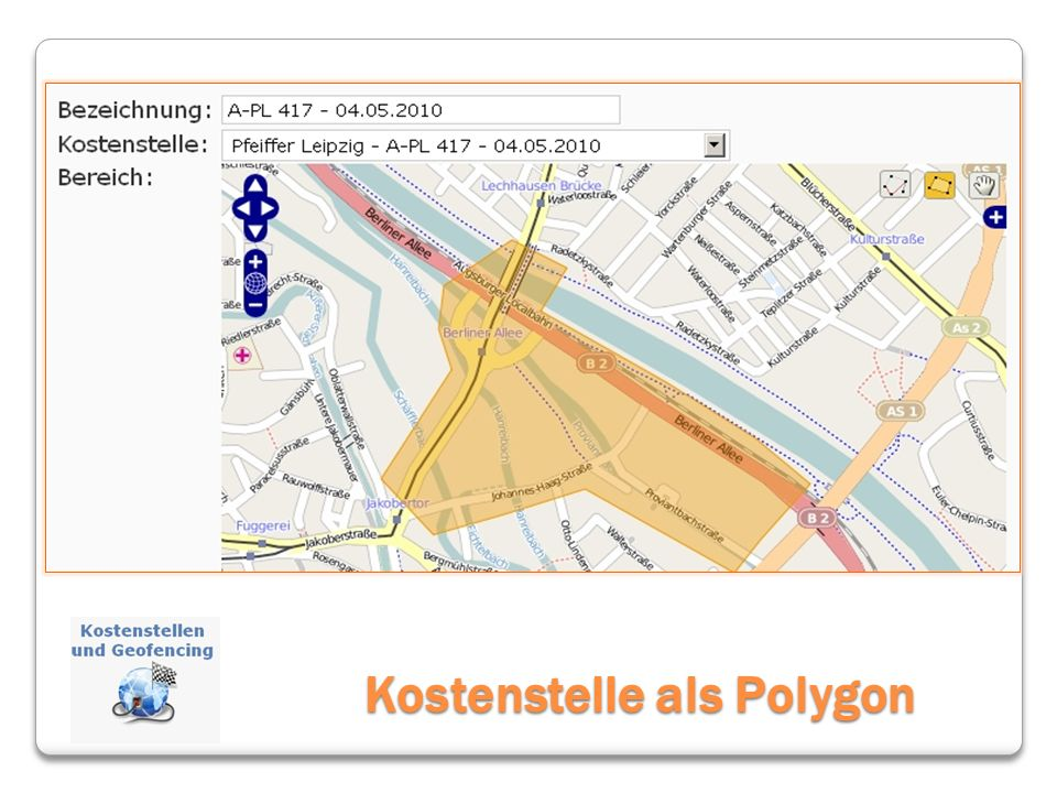 Kostenstelle als Polygon