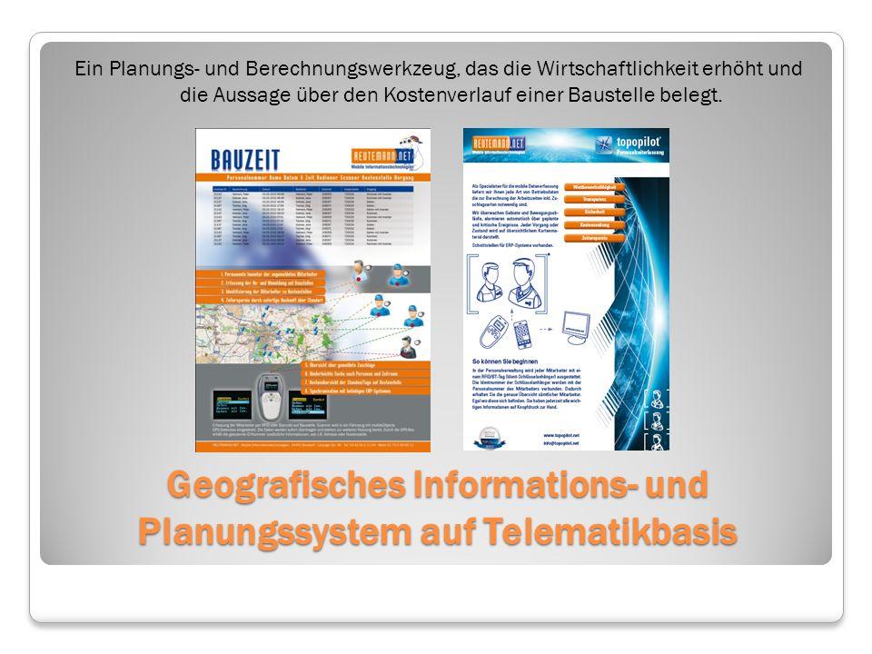 Geografisches Informations- und Planungssystem auf Telematikbasis