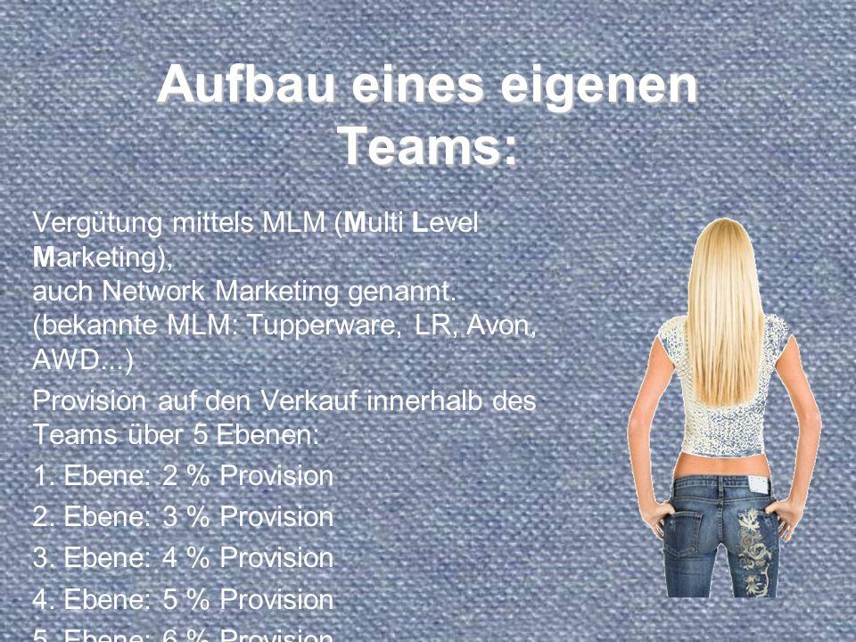 Aufbau eines eigenen Teams:
