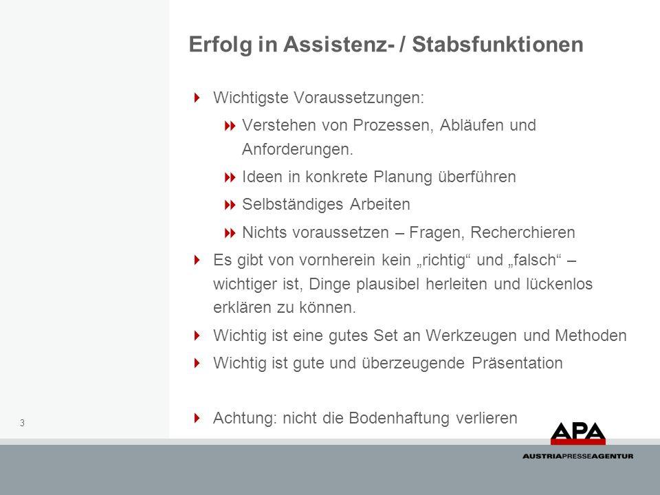 Erfolg in Assistenz- / Stabsfunktionen