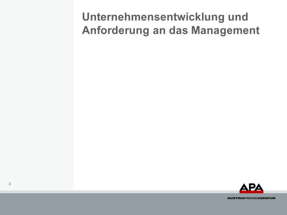 Unternehmensentwicklung und Anforderung an das Management