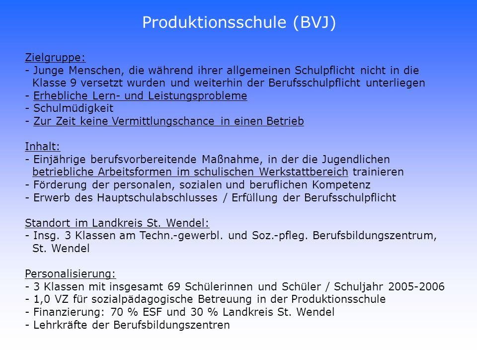 Produktionsschule (BVJ)