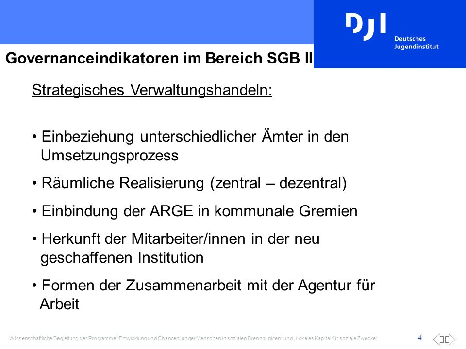 Governanceindikatoren im Bereich SGB II