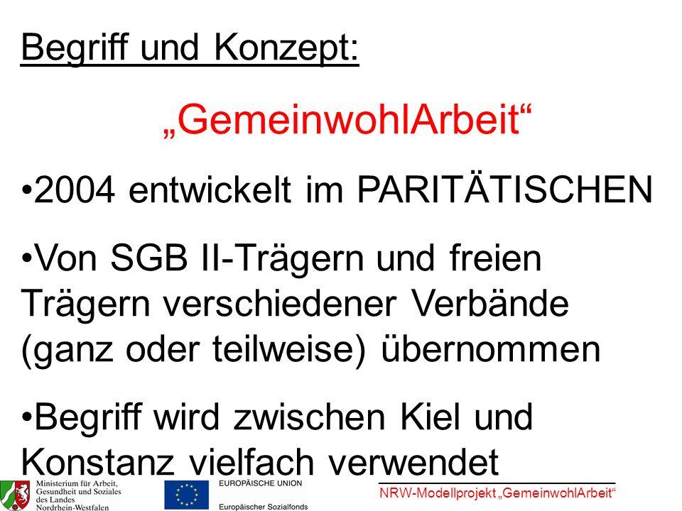 """""""GemeinwohlArbeit Begriff und Konzept:"""