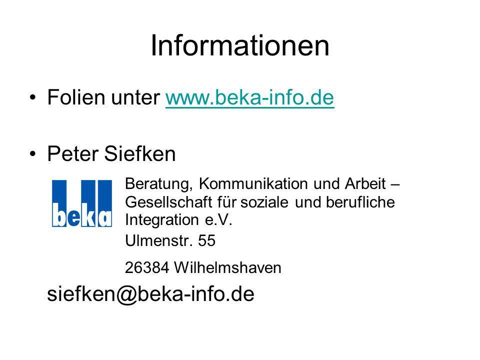 Informationen Folien unter www.beka-info.de Peter Siefken