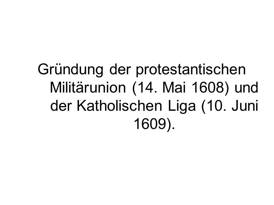 Gründung der protestantischen Militärunion (14