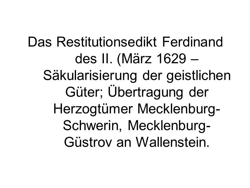 Das Restitutionsedikt Ferdinand des II