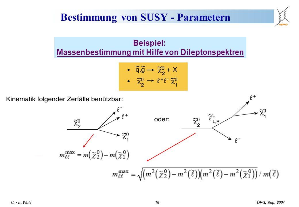 Bestimmung von SUSY - Parametern