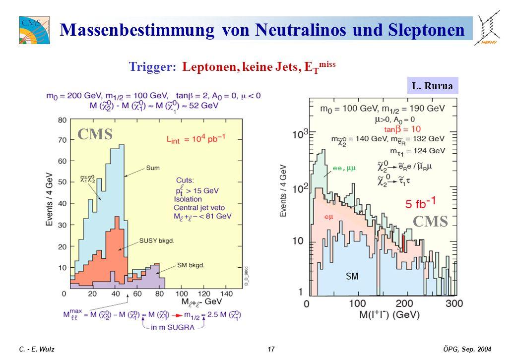 Massenbestimmung von Neutralinos und Sleptonen