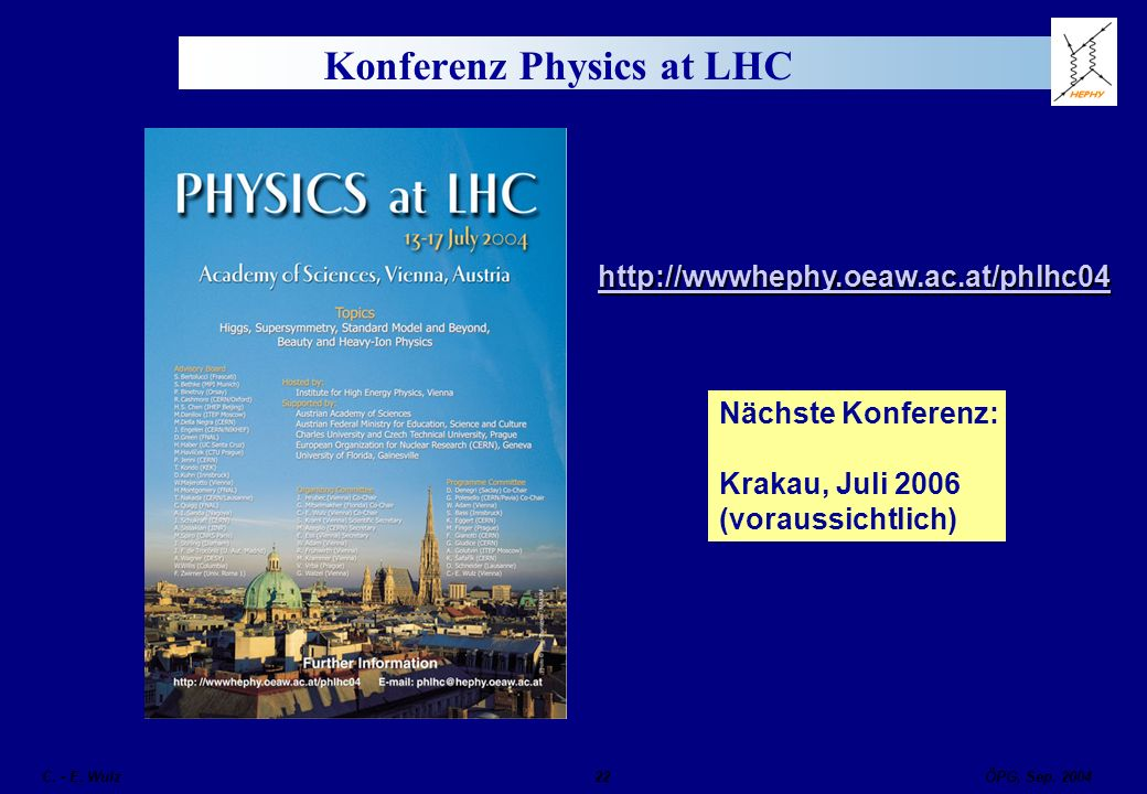 Konferenz Physics at LHC