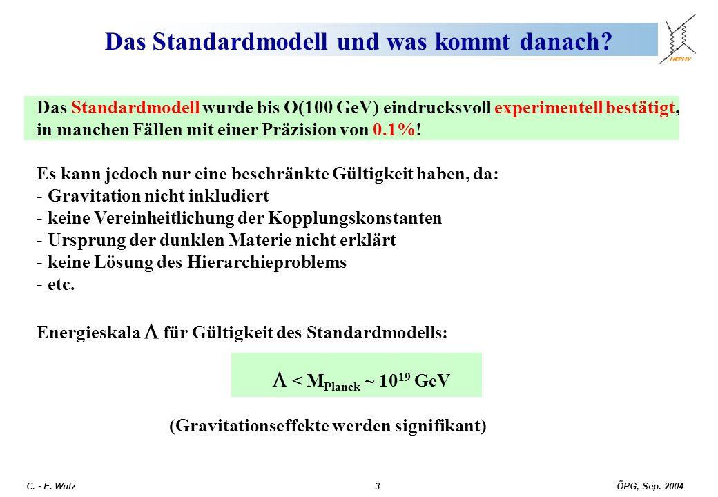Das Standardmodell und was kommt danach
