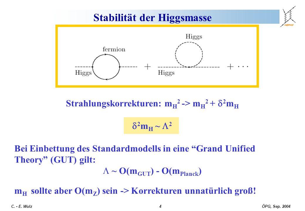 Stabilität der Higgsmasse