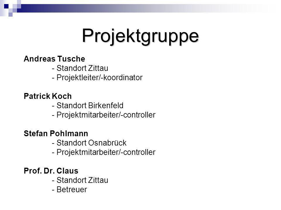 Projektgruppe Andreas Tusche - Standort Zittau