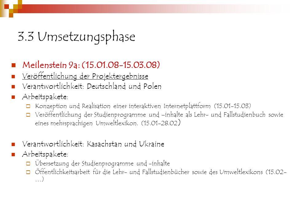 3.3 Umsetzungsphase Meilenstein 9a: (15.01.08-15.03.08)