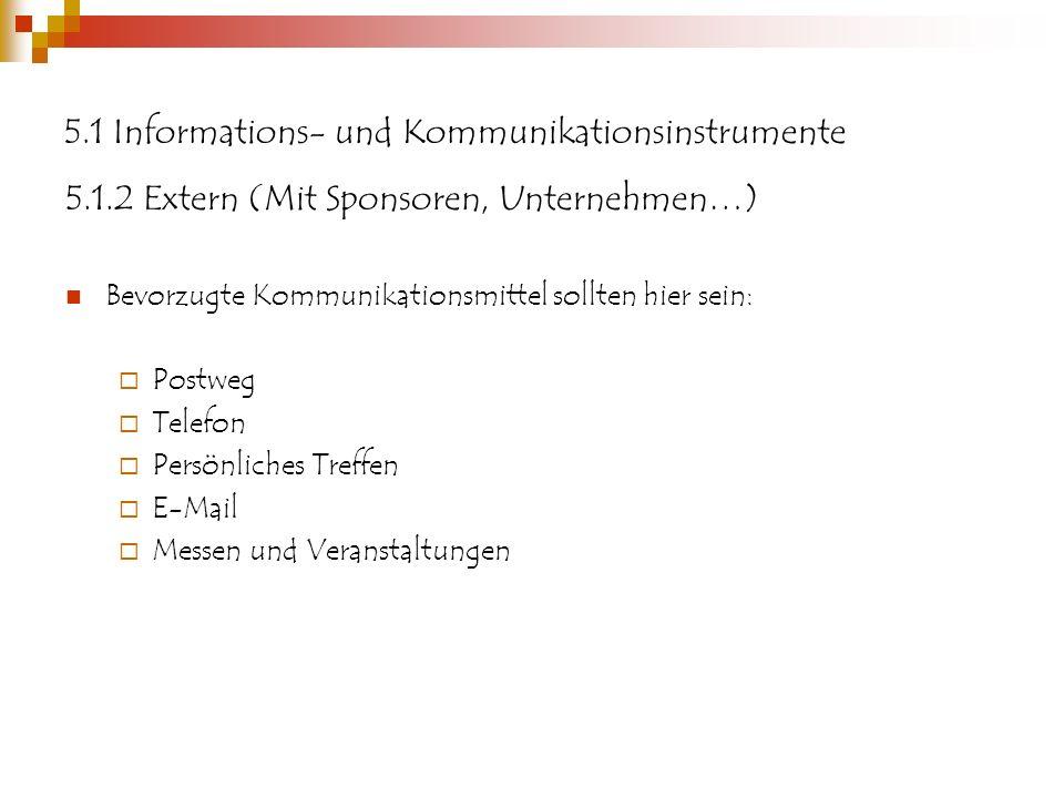5.1 Informations- und Kommunikationsinstrumente
