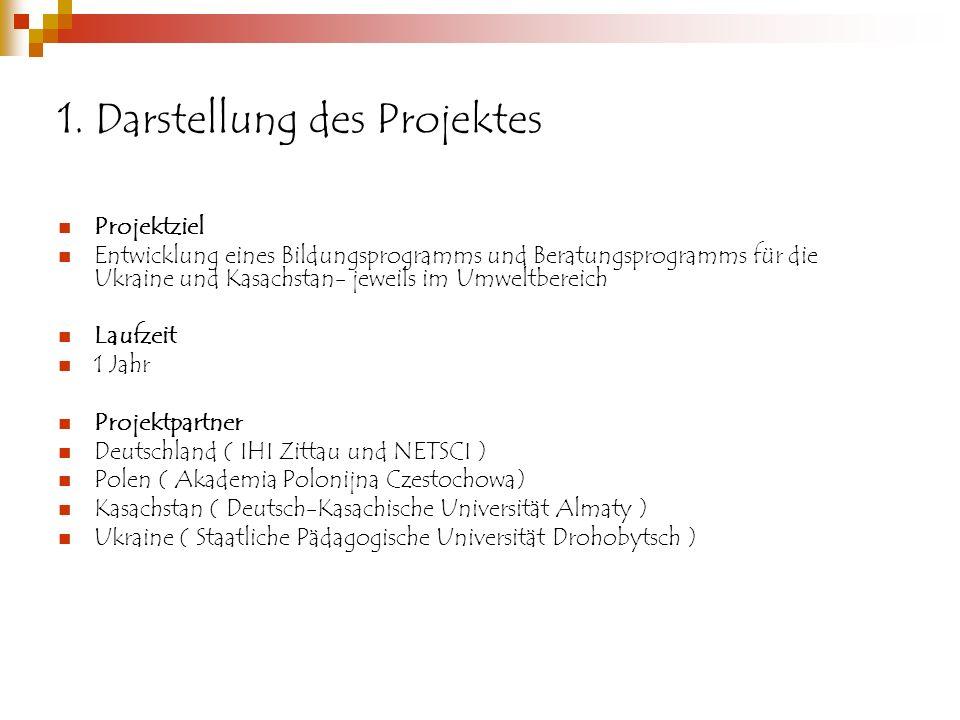 1. Darstellung des Projektes