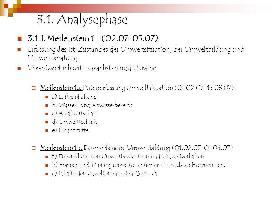 3.1. Analysephase 3.1.1. Meilenstein 1 (02.07-05.07)