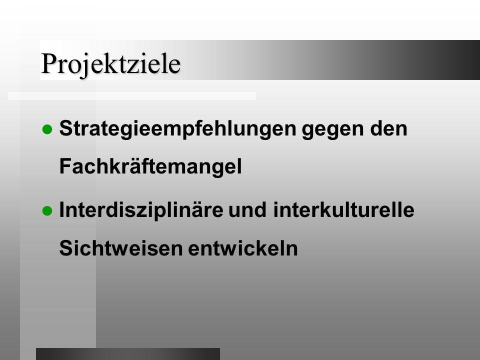 Projektziele Strategieempfehlungen gegen den Fachkräftemangel