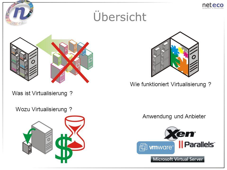 Übersicht Wie funktioniert Virtualisierung Was ist Virtualisierung