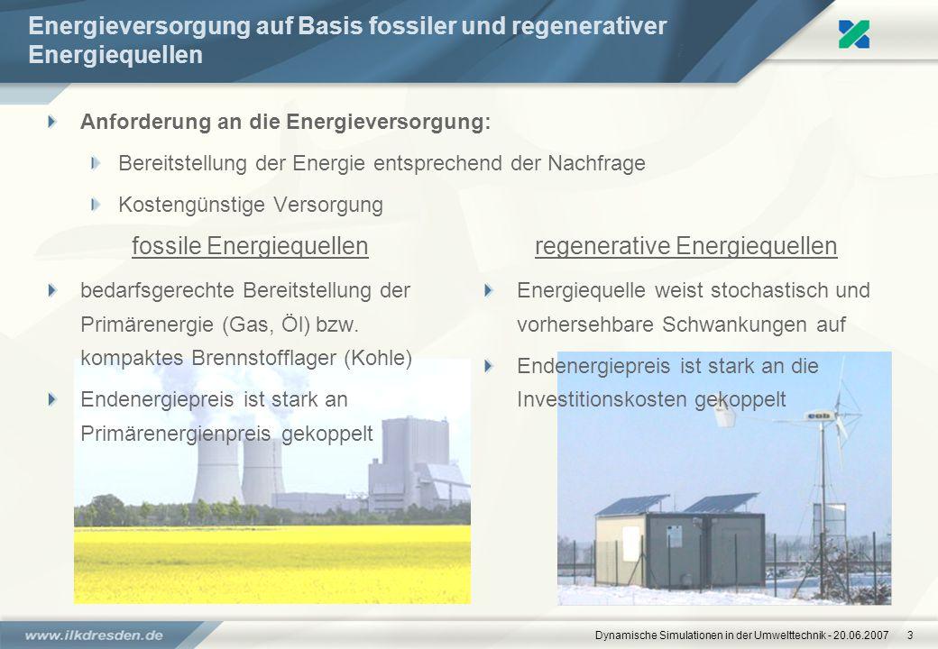 Energieversorgung auf Basis fossiler und regenerativer Energiequellen